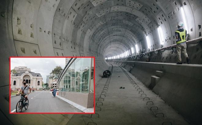 Cận cảnh ga ngầm Metro đầu tiên của TP HCM vừa được hoàn thành
