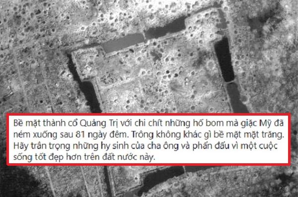 Xúc động với bức ảnh chụp thành cổ Quảng Trị từ trên cao, giới trẻ viết những dòng cảm ơn thế hệ cha anh đã ngã xuống