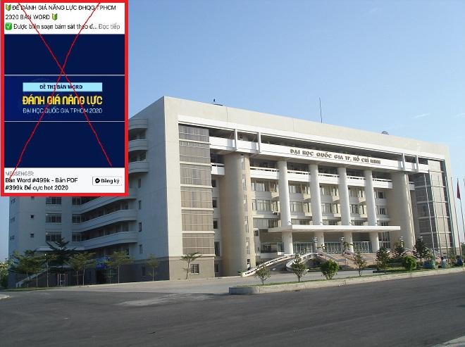 Mạo danh ĐH Quốc gia TP HCM lừa sĩ tử mua tài liệu thi đánh giá năng lực giả