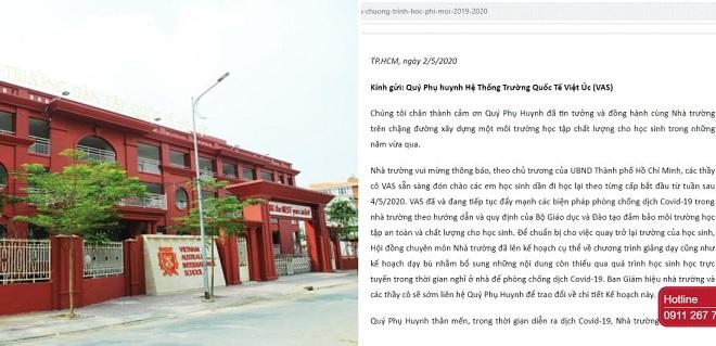 Trường Việt Úc thông báo miễn, giảm học phí, phụ huynh vẫn không đồng tình