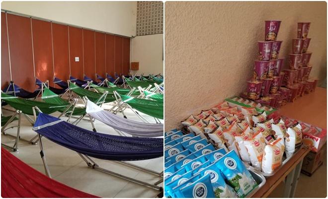 """Trường """"người ta"""" chuẩn bị chỗ ở cho sinh viên chưa có nhà trọ, có cả đồ ăn và đưa đón miễn phí"""