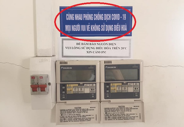 """Định """"giảm nhiệt"""" thì thấy tấm biển khuyến cáo không dùng điều hòa để chống dịch, sinh viên kêu trời"""