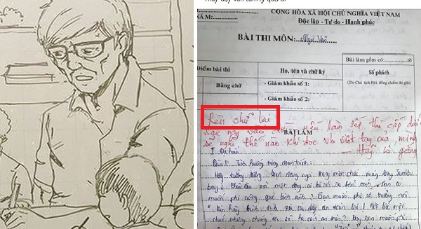 Chê thẳng thừng chữ viết học sinh nhưng giáo viên Văn lại cho lời phê có tâm đang khâm phục