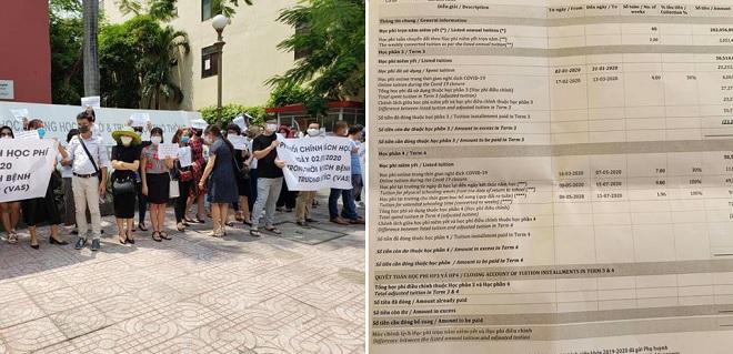 Trường Việt Úc gửi bảng kê học phí mới khiến phụ huynh tiếp tục nổi nóng