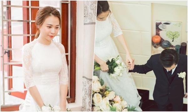 Tròn 1 năm kết hôn, Đàm Thu Trang lần đầu chia sẻ loạt khoảnh khắc hiếm khoe cận nhan sắc cô dâu trong ngày trọng đại