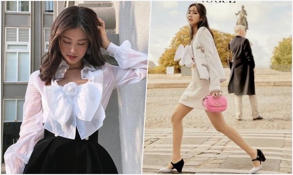 """Đụng hàng Jennie toàn tập, Đông Nhi vẫn ăn đứt """"quý cô Channel"""" với khoản giấu bụng bầu tài tình"""