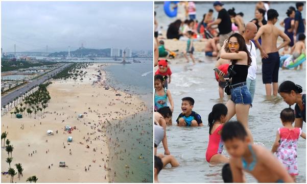 Hậu Covid-19, biển Bãi Cháy đông trở lại, Quảng Ninh bắt đầu kích cầu đón khách du lịch
