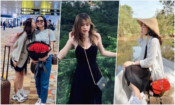 """Sở hữu loạt túi hiệu từ Gucci đến Chanel, đi du lịch cũng phải mang vali Louis Vuitton sành điệu, bạn gái Quang Hải đích thị là """"Rich Kid"""""""
