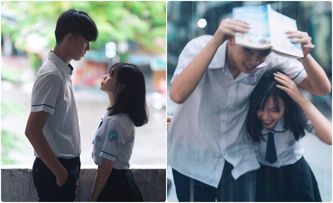 Cặp đôi trung học tung bộ ảnh ngọt ngào như những thước phim Hàn Quốc khiến dân tình xốn xang