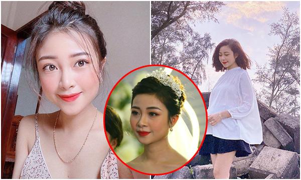 """Chẳng thua kém Quỳnh Anh, vợ Văn Đức mang bầu 7 tháng bụng vẫn """"phẳng lì"""", da mặt còn đẹp hơn trông thấy"""