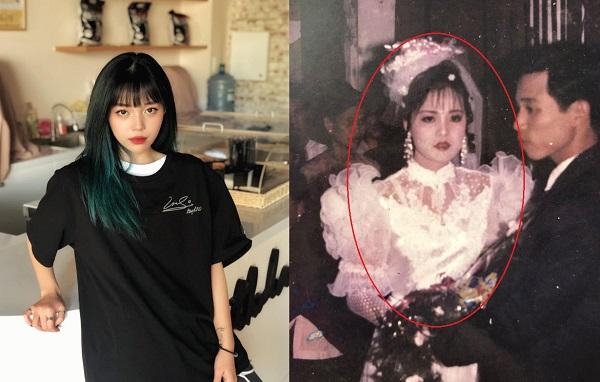 """Khoe nhan sắc bố mẹ thời trẻ, Linh Ngọc Đàn không ngờ lại để lộ gia thế """"rich kid"""" của bố mẹ"""