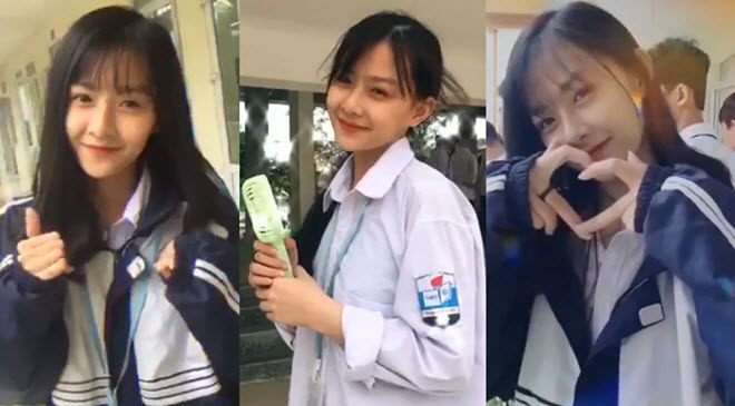 """Nữ sinh Hà thành 2k3 liên tục tung ra những màn """"thả thính"""" khiến bao chàng """"say nắng"""""""