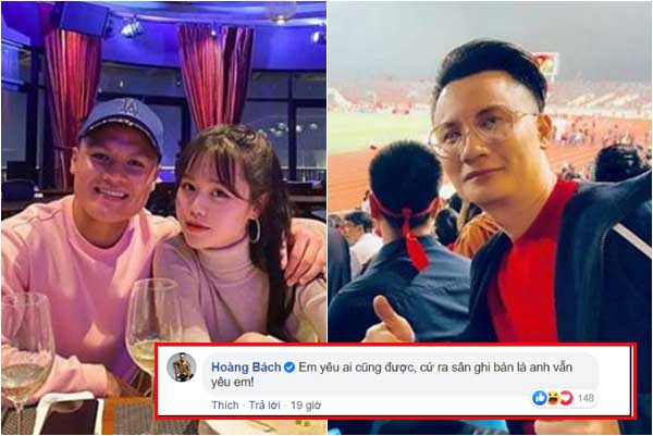"""Ca sĩ Hoàng Bách lên tiếng việc Quang Hải bị tố """"bắt cá nhiều tay"""", một lúc hẹn hò vài cô?"""