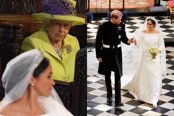 """Ai mà ngờ, chiếc váy cưới của Meghan Markle từng khiến Nữ hoàng Anh """"ghét"""" ra mặt"""