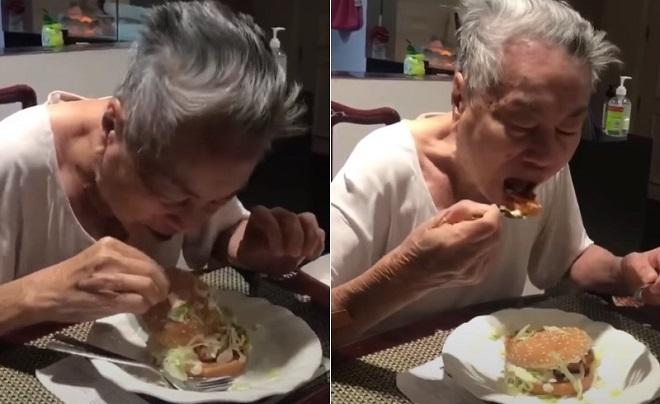 Cụ ông 91 tuổi lần đầu nếm thử bánh hamburger nổi tiếng của McDonald's và... hết lời chê