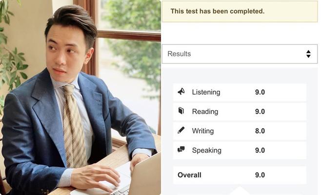 """Thầy giáo """"soái ca"""" thi IELTS khủng nhất Việt Nam khi là người duy nhất đạt 9.0 lần thứ 4"""