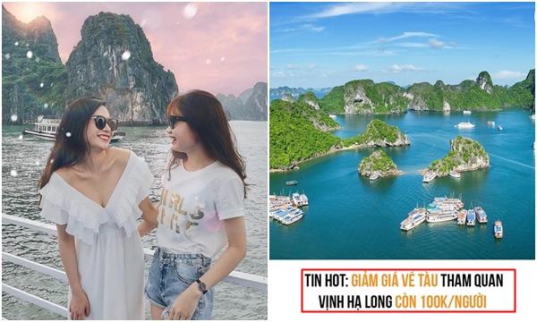 Hạ Long: Chính thức giảm vé tàu xuống còn 100k, miễn phí tham quan vịnh và các điểm du lịch