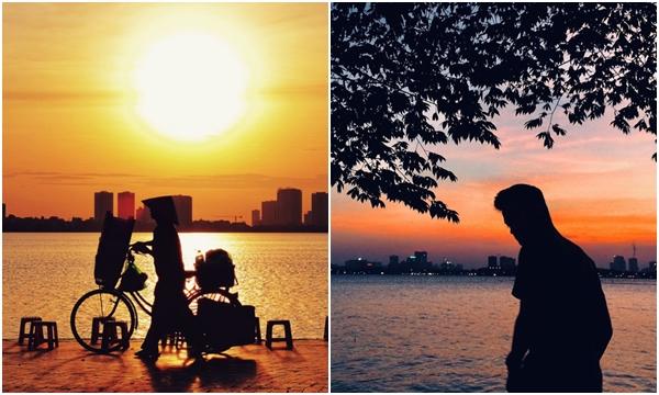 """Nóng thì nóng, nhưng mùa hè Hà Nội vẫn là lúc những buổi hoàng hôn buông đẹp """"rực rỡ"""" khiến CĐM share """"ầm ầm"""""""