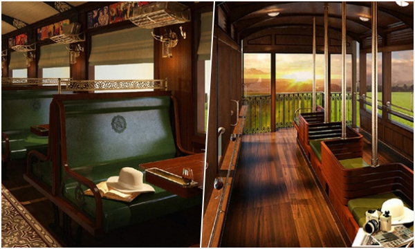 """Xuất hiện chuyến tàu hơi nước Huế - Đà Nẵng có nội thất """"xịn xò"""", đậm chất """"hoài cổ"""" như trong phim"""
