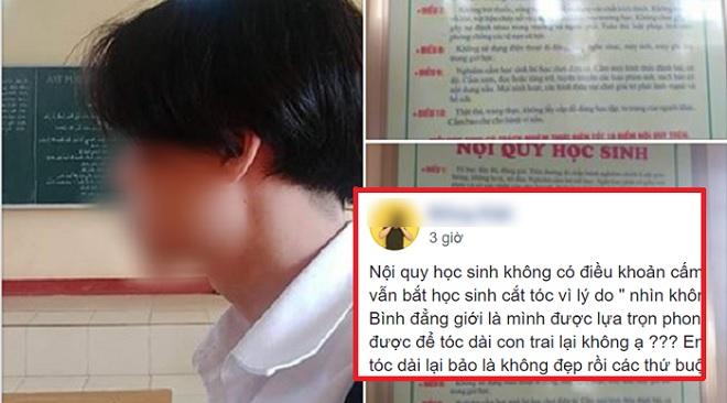 Nhà trường thông tin bất ngờ vụ nam sinh để tóc dài: Không có chuyện đình chỉ, phụ huynh xin chuyển trường