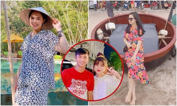 """Dàn vợ cầu thủ Việt: khi còn son rỗi thì toàn """"hotgirl"""", giờ bầu bí xứng danh """"hotmom"""""""