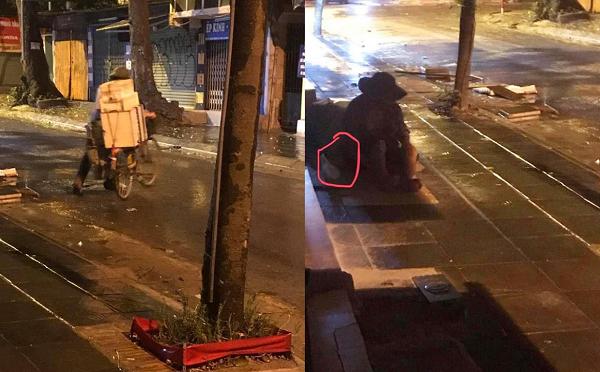 Ấm lòng tình người giữa đêm mưa Hà Nội: Người bán hàng rong dúi chiếc bánh bao nóng hổi vào tay cụ già vô gia cư