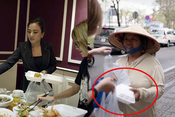 """Clip """"Chủ tịch lấy đồ ăn thừa từ bàn tiệc về cho người nghèo"""" gây tranh cãi: Đồ thừa bỏ đi mới nhớ đến người nghèo?"""