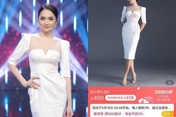 """Váy Hương Giang do NTK Đỗ Long thiết kế bị """"đạo nhái"""" bán tràn lan trên shop online Trung Quốc"""