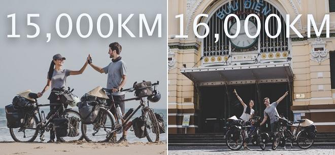 """Ngưỡng mộ cặp vợ chồng Việt - Pháp đạp xe 16.000 km từ Pháp về Việt Nam: Cuộc hành trình """"lãng mạn gay cấn"""""""