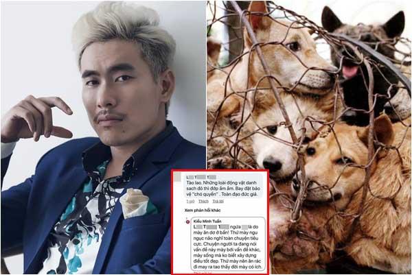 Kiều Minh Tuấn ủng hộ việc cấm thịt chó, cãi tay đôi đáp trả khi bị mỉa mai sống đạo đức giả