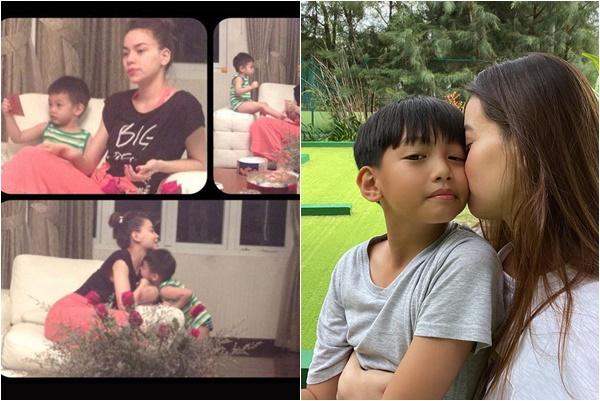 Mang song thai với Kim Lý, Hà Hồ liên tục đăng ảnh nhớ thương con trai Subeo