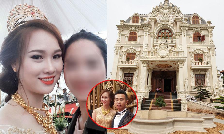 """Đám cưới """"khủng"""" tại Nam Định: Cô dâu được mẹ chồng tặng vương miện 100 cây vàng, chú rể sống trong lâu đài bề thế"""