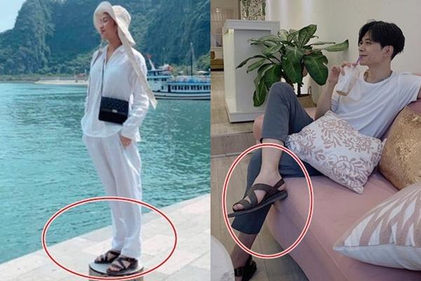 Tần suất mặc đồ đôi khó ai có thể qua được cặp Diệu Nhi - Anh Tú: hết áo đến túi, giờ cả dép cũng đôi luôn
