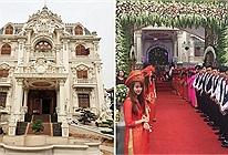 Triệu phú Nam Định xây tòa lâu đài 50 tỷ đồng gần 10 năm, cưới con trai tặng vương miện 100 cây vàng