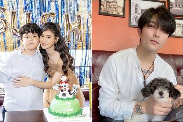 Đến tiệc sinh nhật con, Tim chỉ ngồi thui lủi một góc không dám lại gần vợ cũ Trương Quỳnh Anh