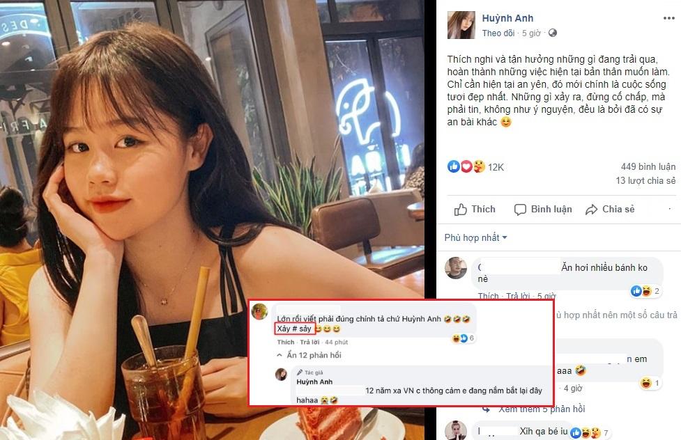 """Đăng status tâm trạng sau """"bão"""" thị phi, bạn gái Quang Hải không ngờ lại bị bắt bẻ chuyện viết sai chính tả"""