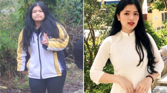 """Giảm gần 30 kg trong vòng 10 tháng, nữ sinh xứ Lạng """"lên đời"""" ngoạn mục để có thể mặc áo dài"""