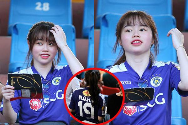 Mặc áo Quang Hải cổ vũ chàng cầu thủ trong trận Hà Nội gặp HAGL, Huỳnh Anh tiếp tục gây tranh cãi vì nhan sắc kém xinh