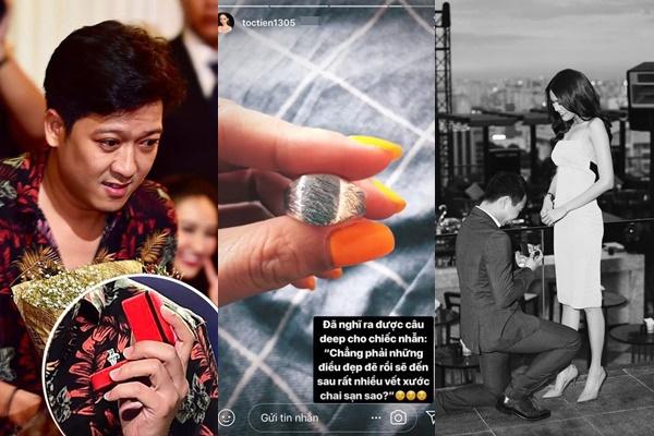 Đồng nghiệp, bạn bè nhẫn kim cương hột to hột nhỏ, nhìn của Tóc Tiên chẳng ai dám tin là nhẫn đính hôn