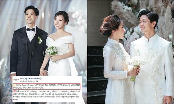 Bóc mác bộ váy cưới của vợ Công Phượng: giá cho thuê chỉ 35 triệu đồng