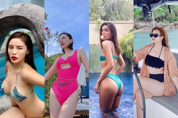 """Vừa vào hè, các mỹ nhân Việt lại tiếp tục """"đường đua ngầm"""" với loạt bikini nóng bỏng, gợi cảm"""