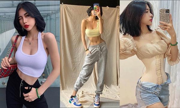 """""""Vượt mặt"""" 2 đàn chị Ngọc Trinh và Ngân 98, hot girl Sài Thành đoạt ngôi vòng eo 52 cm"""
