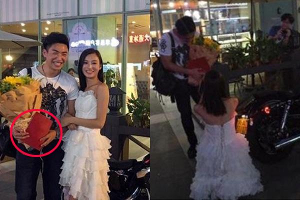 """Vác sổ đỏ và """"xế cưng"""" đến cầu hôn bạn trai, cô gái hạnh phúc khi được người yêu gật đầu đồng ý!"""