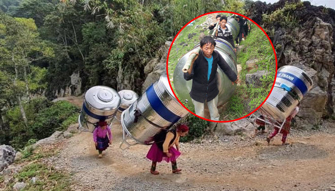 """Cộng đồng """"dậy sóng"""" trước hình ảnh phụ nữ vùng cao cõng bồn nước 1.200 lít: """"Chỉ là một mặt của sự việc"""""""