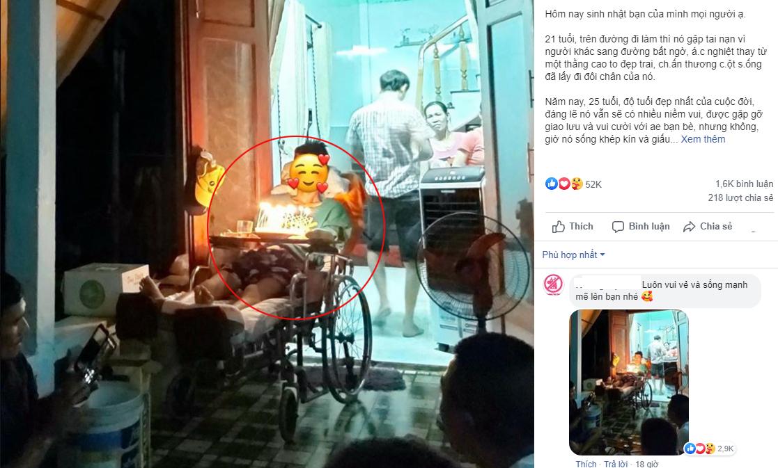 Sinh nhật tuổi 25 trên chiếc xe lăn: Chỉ vì người khác sang đường bất cẩn mà bạn tôi mất đi đôi chân!