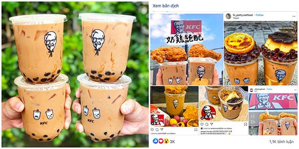 """Mừng rơn khi KFC ra mắt trà sữa trân châu, còn có combo bán kèm gà rán nhìn bao """"thèm"""""""