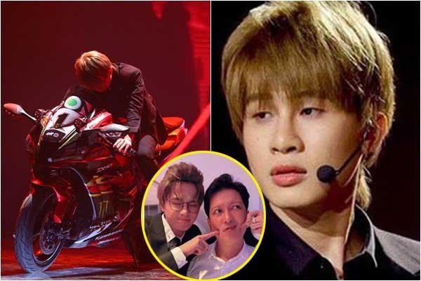 Jack phóng mô tô lên hẳn sân khấu hát rap, chụp ảnh thân thiết với Trường Giang lấy cảm tình cả showbiz