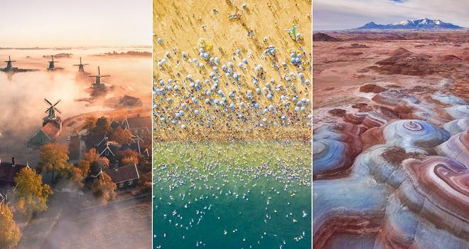 20 bức ảnh chụp từ trên cao mang lại cái nhìn ngoạn mục về đời sống và thiên nhiên