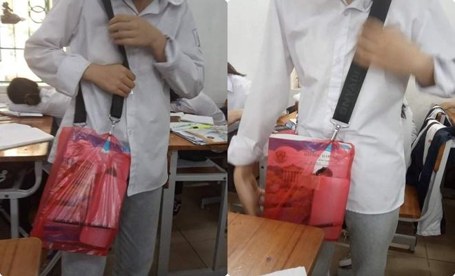 """Học trò lại ra tay sáng tạo chiếc cặp lạ: Nhờ tên trộm """"có tâm"""" để cái dây cặp mà lại được dịp phát huy """"IQ vô cực"""""""