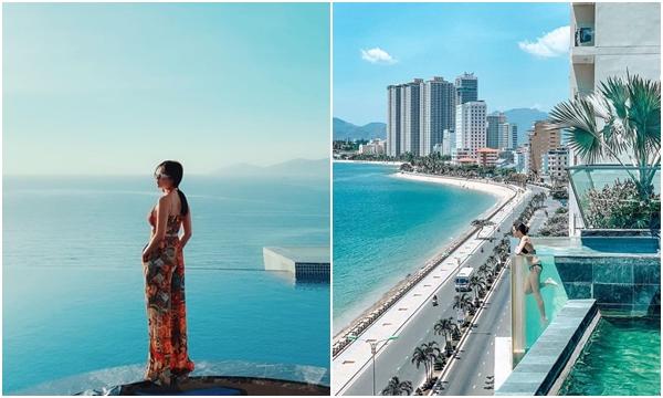 """Zoom cận cảnh Bể bơi vô cực bằng kính view biển đang khiến các tín đồ """"sống ảo"""" phát cuồng ở Nha Trang"""